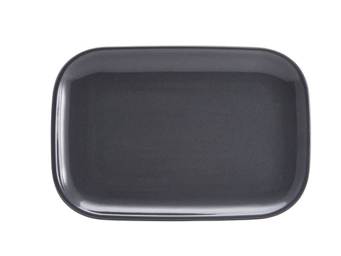 Genware RP-BL34 Terra Stoneware Rustic Blue Rectangular Plate 34.5 x 23.5cm, Tableware, Advantage Catering Equipment