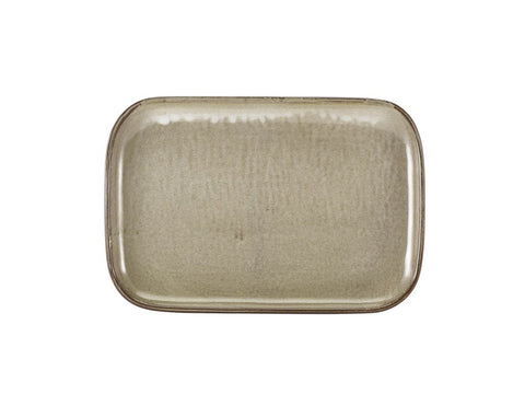 Genware RP-PG34 Terra Porcelain Grey Rectangular Plate 34.5 x 23.5cm, Tableware, Advantage Catering Equipment