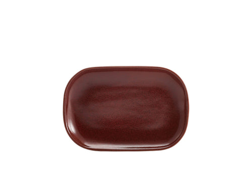 Genware RP-R24 Terra Stoneware Rustic Red Rectangular Plate 24 x 16.5cm, Tableware, Advantage Catering Equipment