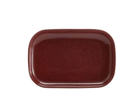 Genware RP-R29 Terra Stoneware Rustic Red Rectangular Plate 29 x 19.5cm, Tableware, Advantage Catering Equipment