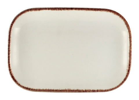 Genware RP-SBR29 Terra Stoneware Sereno Brown Rectangular Plate 29 x 19.5cm, Tableware, Advantage Catering Equipment