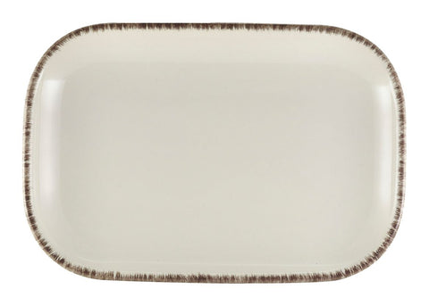 Genware RP-SG29 Terra Stoneware Sereno Grey Rectangular Plate 29 x 19.5cm, Tableware, Advantage Catering Equipment