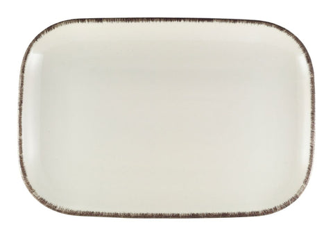 Genware RP-SG34 Terra Stoneware Sereno Grey Rectangular Plate 34.5 x 23.5cm, Tableware, Advantage Catering Equipment