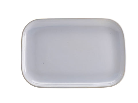 Genware RP-WH34 Terra Stoneware Rustic White Rectangular Plate 34.5 x 23.5cm, Tableware, Advantage Catering Equipment