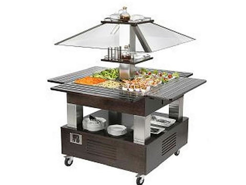 Roller Grill SBC40F Island Refrigerated Buffet Unit, Buffet Displays, Advantage Catering Equipment