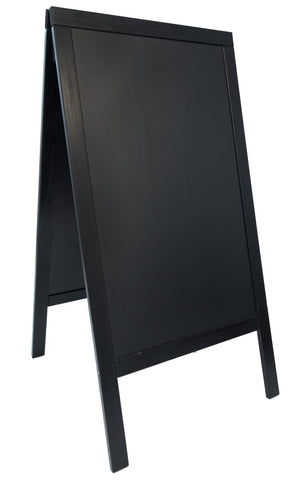 Genware SBS-BL-120 Sandwich A-Board 70X120cm, Black, Menu,Signs & Display, Advantage Catering Equipment