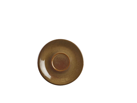 Genware SCR-BR15 Terra Stoneware Rustic Brown Saucer 15cm, Tableware, Advantage Catering Equipment