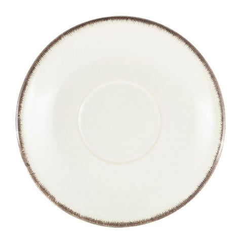 Genware SCR-SG15 Terra Stoneware Sereno Grey Saucer 15cm, Tableware, Advantage Catering Equipment