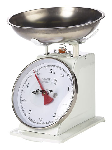 Genware SD05 Analogue Scales 5kg Graduated in 20g, Kitchen & Utensils, Advantage Catering Equipment
