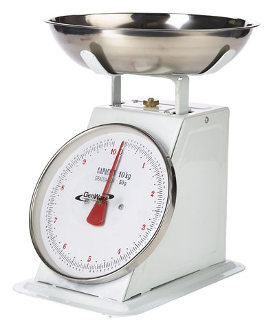 Genware SD10 Analogue Scales 10kg Graduated in 50g, Kitchen & Utensils, Advantage Catering Equipment