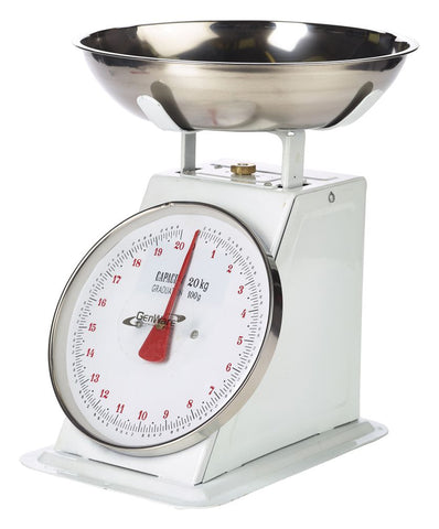 Genware SD20 Analogue Scales 20kg Graduated in 50g, Kitchen & Utensils, Advantage Catering Equipment