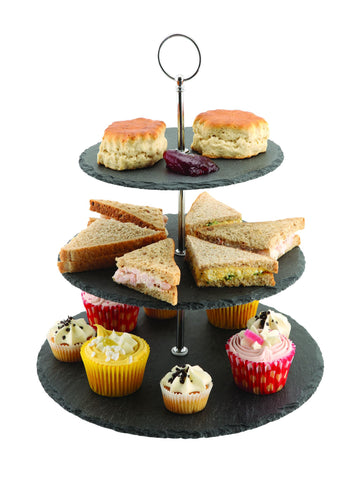 Genware SLT-3TCS  Slate 3-Tier Cake Stand 12/25/30cm, Buffet & Display, Advantage Catering Equipment