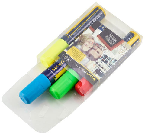 Genware SMA720-V4 Chalkmarkers 4 Colour Pack (R,G,Y,BL) Large