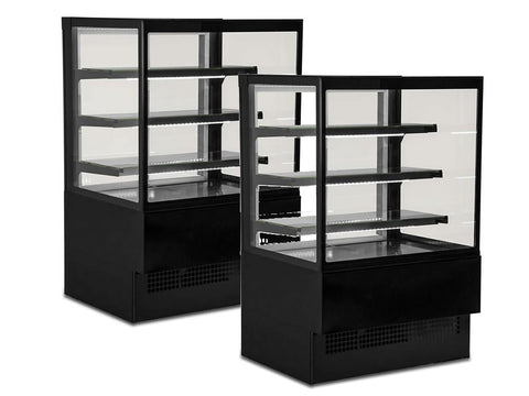 Sterling Pro 'EVO-K' Range Square Glass Patisserie Counter, Chilled Display, Advantage Catering Equipment