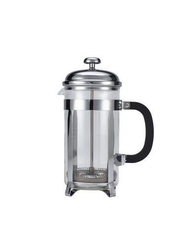 Genware T808C 8 Cup Cafetiere Chrome Pyrex 32oz 1000ml