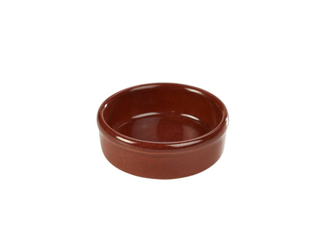 Genware TD-R10 Terra Stoneware Rustic Red Tapas Dish 10cm, Tableware, Advantage Catering Equipment