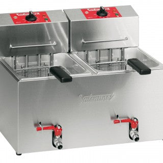 Valentine TF77 Twin Pan Electric Fryer, Fryers, Advantage Catering Equipment