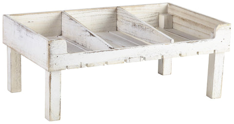 Genware TR5321W White Wash Wooden Display Crate Stand, Buffet & Display, Advantage Catering Equipment