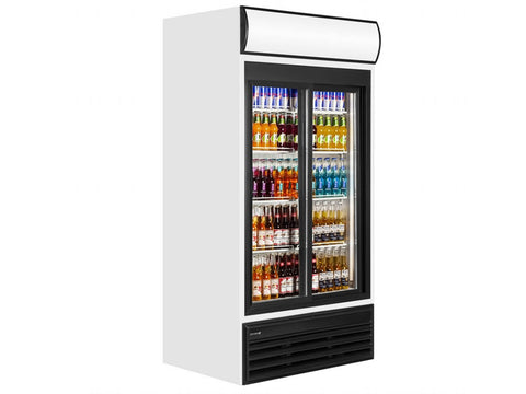 Tefcold FSC1000S Glass Door Merchandiser, Bottle Fridges, Advantage Catering Equipment