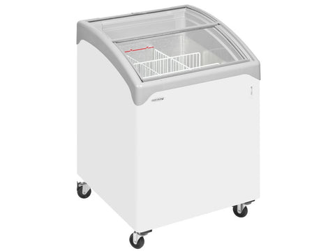 Tefcold NIC100 Curved Glass Lid Chest Freezer, Frozen Display, Advantage Catering Equipment