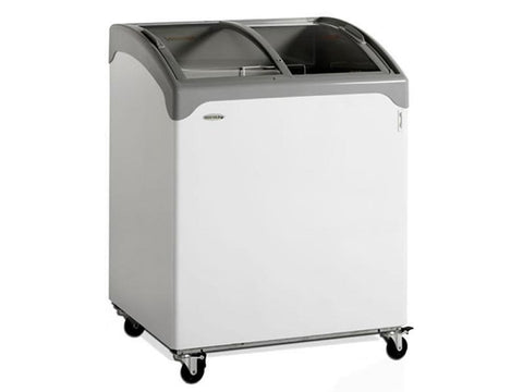 Tefcold NIC SCEB Range Sliding Curved Glass Lid Chest Freezer, Frozen Display, Advantage Catering Equipment