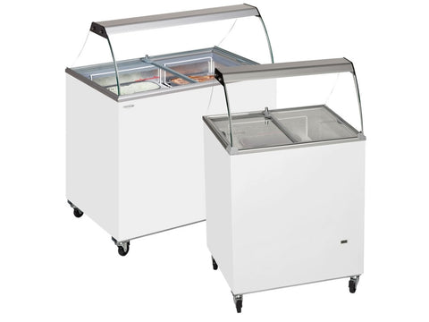 Tefcold SC Range Scoop Ice Cream Display with Canopy, Ice Cream, Advantage Catering Equipment