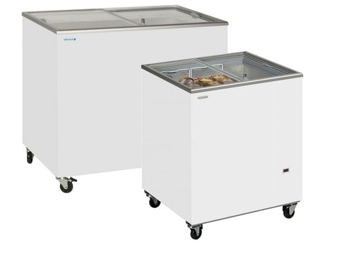 Tefcold SC Range Sliding Flat Glass Lid Chest Freezer