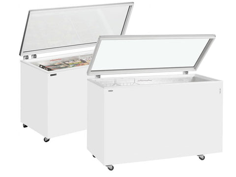 Tefcold ST Range Hinged Glass Lid Chest Freezer, Frozen Display, Advantage Catering Equipment