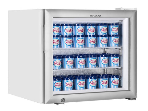 Tefcold UF50G Glass Door Display Freezer, Chilled Display, Advantage Catering Equipment