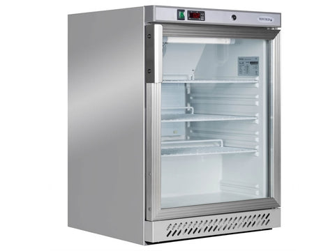 Tefcold UR200GS SS Glass Door Merchandiser, Chilled Display, Advantage Catering Equipment