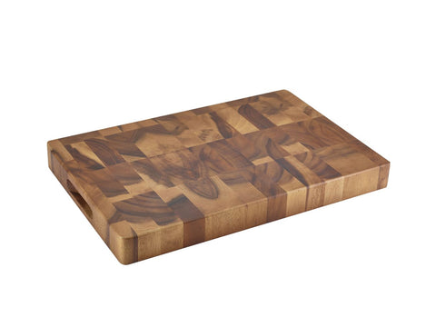 "Genware WD1812 Acacia Wood End Grain Chopping Board 18 x 12 x 1.75"", Kitchen & Utensils, Advantage Catering Equipment"