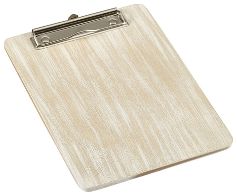 Genware WMC17W White Wash Wooden Menu Clipboard A5 18.5x24.5x0.6cm