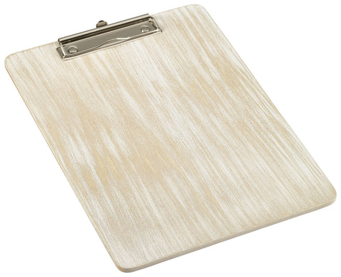 Genware WMC24W White Wash Wooden Menu Clipboard A4 24x32x0.6cm, Menu,Signs & Display, Advantage Catering Equipment