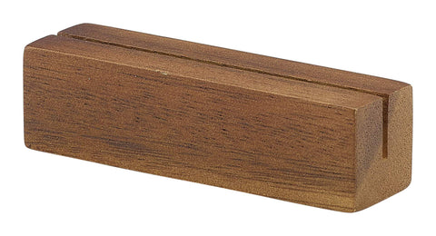 Genware WSH9 Acacia Wood Sign Holder 9 x 3 x 3cm, Menu,Signs & Display, Advantage Catering Equipment