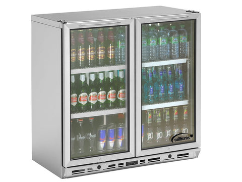 Williams BC2S3 Double Door Bottle Cooler, Bottle Fridges, Advantage Catering Equipment