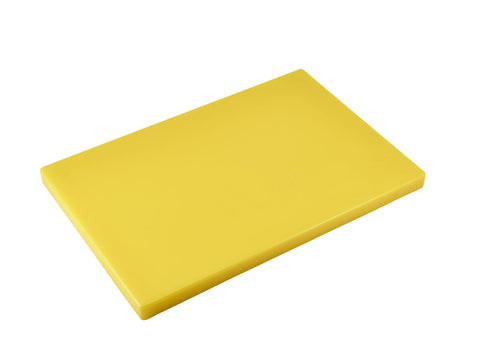 "Genware Y11812 Yellow 1"" Chopping Board 18 x 12"", Kitchen & Utensils, Advantage Catering Equipment"