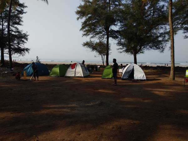 Beachside camping at Shrivardhan (Raptor Camping)