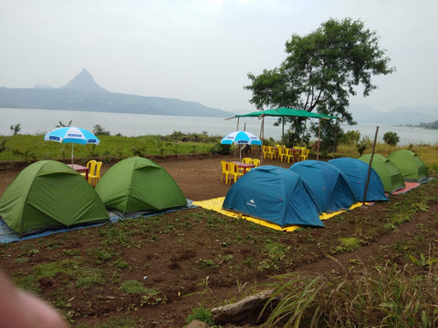 Pawna (Campsite R4): Lakeside camping with magnificent view of Tung fort & Pawna lake