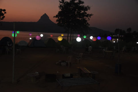 Pawna (Campsite R3): Lakeside camping with magnificent view of Tung fort & Pawna lake