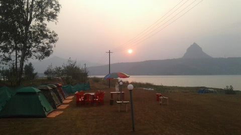 Pawna (Campsite R2): Lakeside camping with magnificent view of Tung fort & Pawna lake