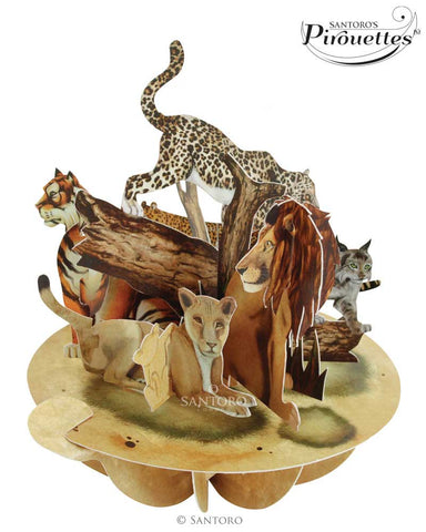The Big Cats - 3D Pop-Up Pirouette