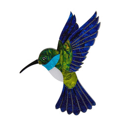 Hyacinth the Hummingbird brooch