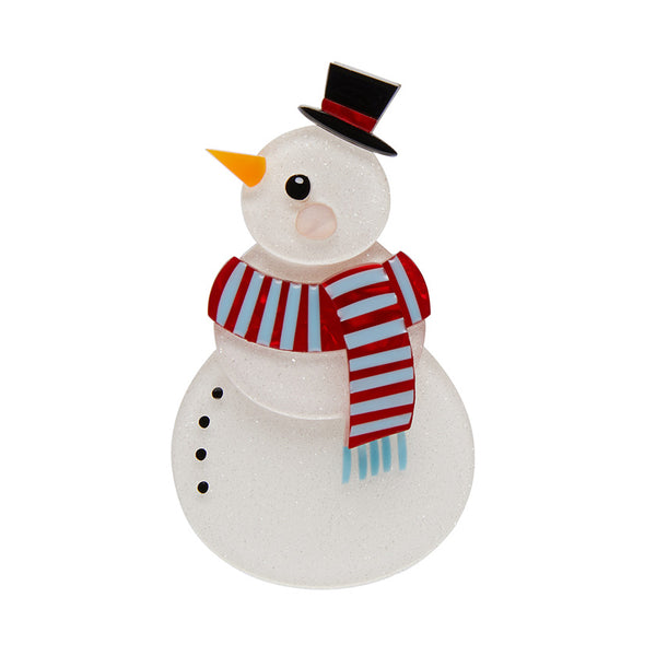 Snuggly Snowman brooch