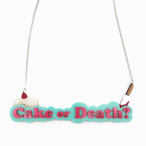 Cake or Death? necklace