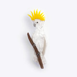 Sulphur Crested Cockatoo brooch