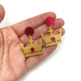 Regal Crown earrings