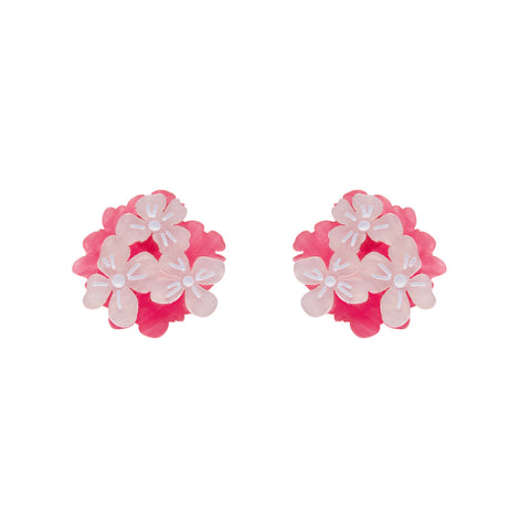 Heartfelt Hydrangea earrings - pink