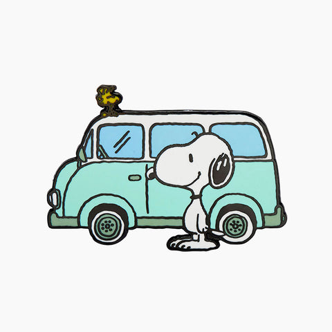 Snoopy on the Road Enamel Pin