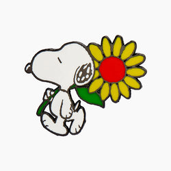 Snoopy's Sunflower Enamel Pin
