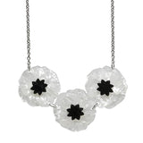 Poppy Field necklace - white